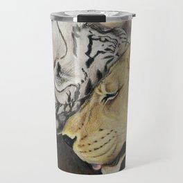 """""""CamBu"""" Cameron Lion & Zabu Tiger Travel Mug"""