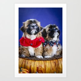 Pumpkin Dog Art Prints | Society6