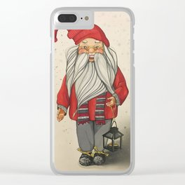 Сard with Santa Clear iPhone Case