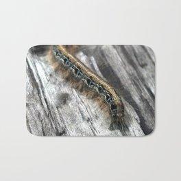 Caterpillar (Blue and Gold) Bath Mat