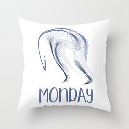 The Monday Blues Throw Pillow