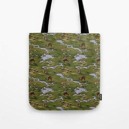 Vicuñas and Flamingoes Tote Bag
