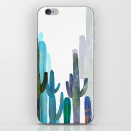 blue cactus iPhone Skin