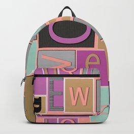 fun bright alphabet jumble Backpack