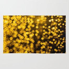 Golden Xmas Lights Rug