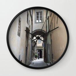 Cortona Alley Wall Clock