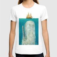 be happy T-shirts featuring The Whale  by Terry Fan