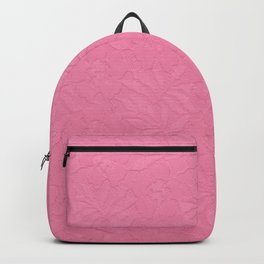 Girly trendy fuschia pink elegant floral french lace Backpack