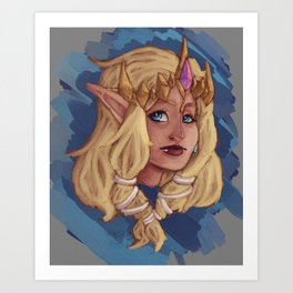 Hyrule Warriors Princess Zelda Art Print