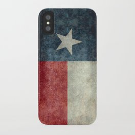 Texas state flag, vintage banner iPhone Case