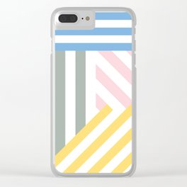Summer stripes Clear iPhone Case