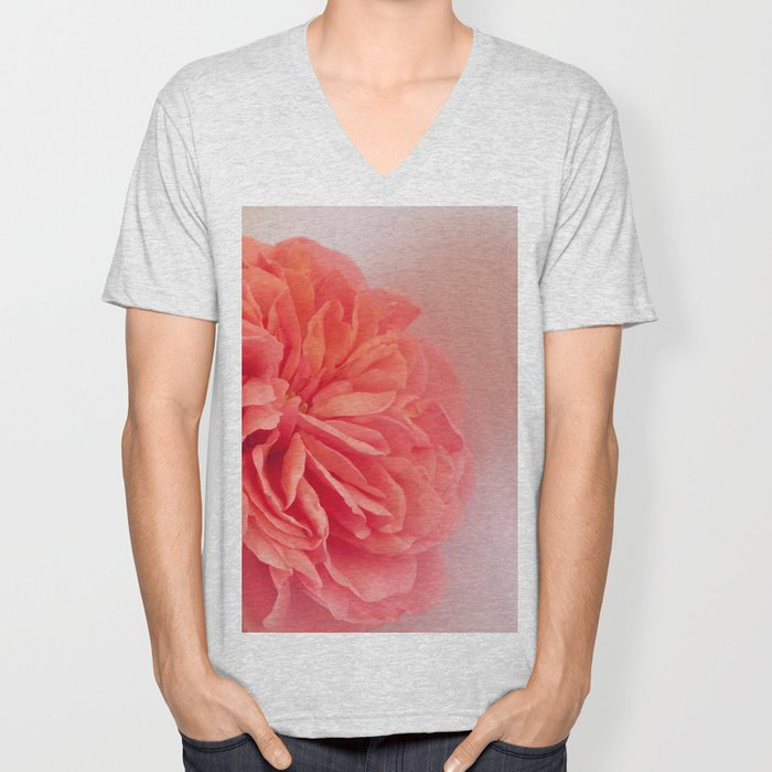 A Touch of Love - Pink Rose #2 #art #society6 Unisex V-Neck