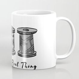 Vintage We Are The Real Reel Thing Funny Pun Sewing Coffee Mug