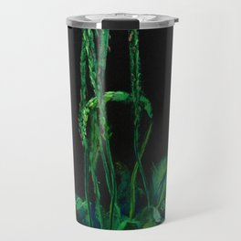 Plantain, green & black Travel Mug