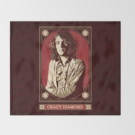 Syd Barrett/Crazy Diamond Throw Blanket