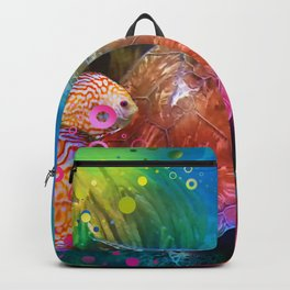 Sea Turtle In Living Color Backpack