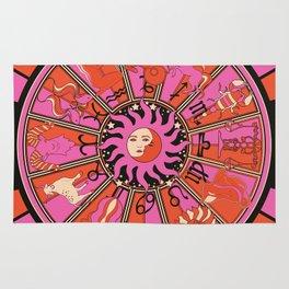 Harley and J Zodiac Hot Pink Rug