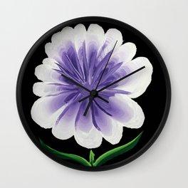 Large Flower Filigree Scroll Floral Art Acrylic Painting Purple Flower Wall Clock