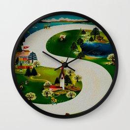 Vintage Switzerland Travel Wall Clock