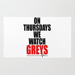 on thursdays we watch greys Rug