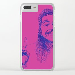 Happy Posty Clear iPhone Case