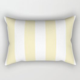 Vertical Stripes - White and Blond Yellow Rectangular Pillow