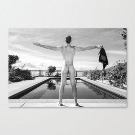 Freedom Man at Pool Canvas Print