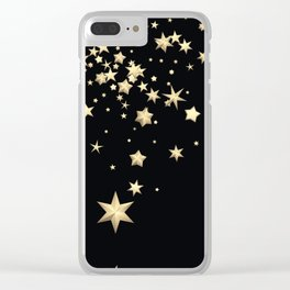 Golden Stars 3 Clear iPhone Case