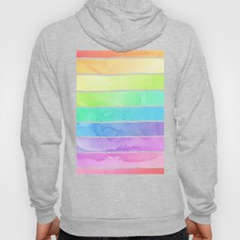Watercolor Rainbow Stripes in Ombre Summer Pastels Hoody