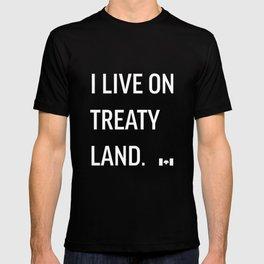 I LIVE ON TREATY LAND T-shirt