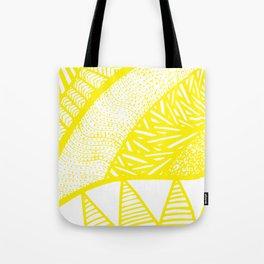 Free Hand Zesty Lemon Doodle Design Tote Bag