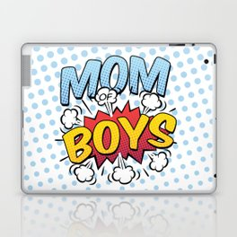 Mom of Boys Mother's Day Comic Book Style Laptop & iPad Skin