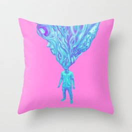 KiddoXP pink Throw Pillow