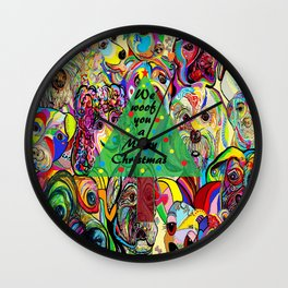 We Woof You a Merry Christmas Wall Clock