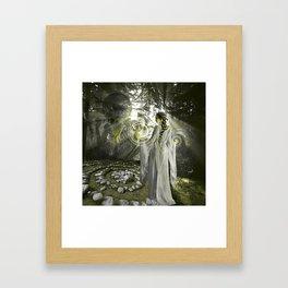 Walking the Spiral Framed Art Print