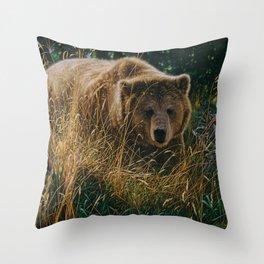 Brown Bear - Crossing Paths Throw Pillow