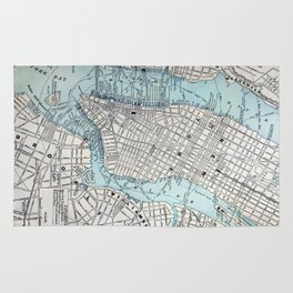 Vintage Map of New York Rug