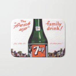 "Vintage Ads: 7Up ""The Fresh Up Family Drink"" Bath Mat"