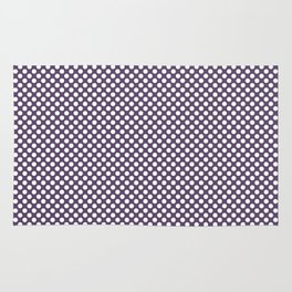 Loganberry and White Polka Dots Rug