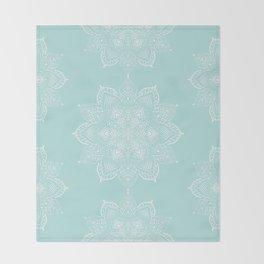 Winter Spirit Mint Throw Blanket