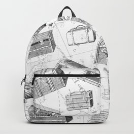 Unique Vintage Suitcases Design Backpack