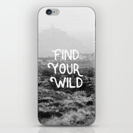FIND YOUR WILD II iPhone Skin