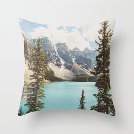 Moraine Lake II Banff National Park Throw Pillow