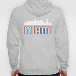 Red White Blue Miami Florida Skyline Hoody