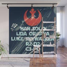 Star War * Rebels Names * Han Solo * Princess Leia * Luke Skywalker * R2-D2 * C3-Po * Jedi Wall Mural