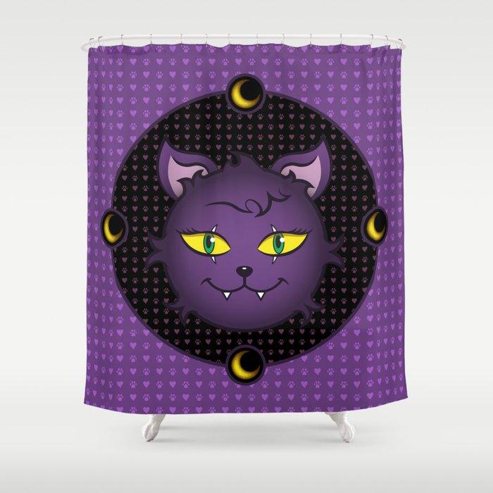 Crescent - Monster High Pet Shower Curtain