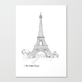 The Eiffel Tower, Paris Canvas Print
