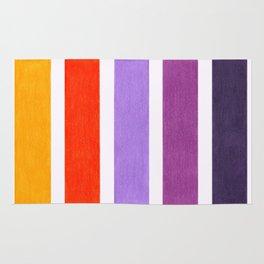 Orange & Purple Geometric Pattern Rug