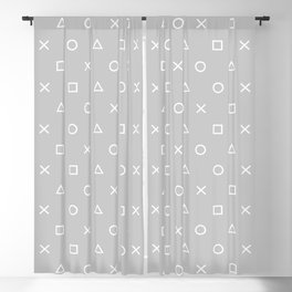 Grey Gamer Blackout Curtain