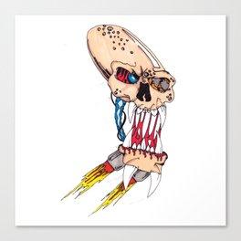 Jet-pack Skull Canvas Print
